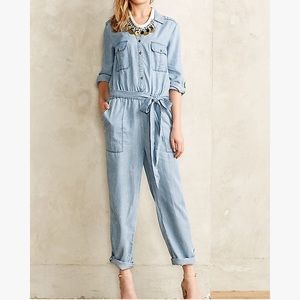 Pilcro and the letterpress chambray jumpsuit